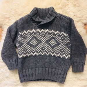 Old Navy Gray Knit Sweater 12-18 months